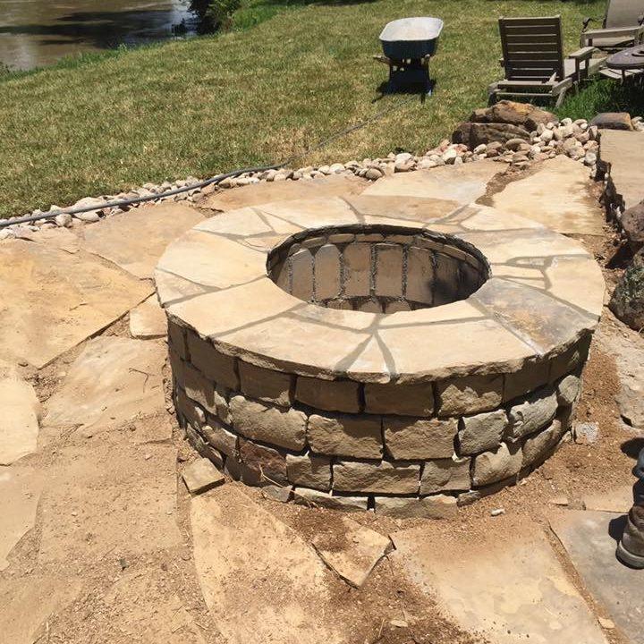 stone masonry fire pit